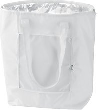eBuyGB Folding Cooler Bag, Polyester, White