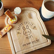 eBuyGB Happy Easter Breakfast Board, Some Bunny