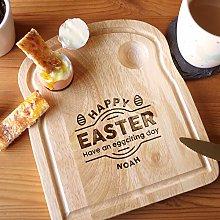 eBuyGB Personalised Happy Easter Breakfast Board,