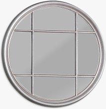 Eccleston Round Wood Frame Window Mirror, 100cm,