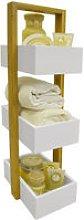 ECHE - 3 Tier Bathroom Storage Shelf / Caddy /