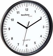 echnoline WT 6700 Wall Clock, Plastic, Black