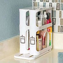 Ecisi New Spice Rack with Rotating Shelves, 20