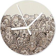 Ecker Analogue Wall Clock Ebern Designs Colour: