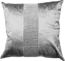 Eclat Cushion Cover 17 x 17' Silver Bed Sofa