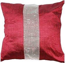 Eclat Cushion Cover 17 x 17' Wine Bed Sofa