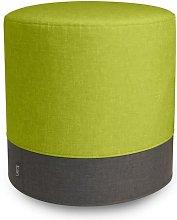 Eclipse Pouffe Mercury Row Upholstery Colour: Lime