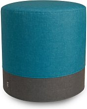 Eclipse Pouffe Mercury Row Upholstery Colour: Teal