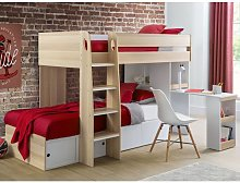 Eclipse Wooden Bunk Bed In Scandinavian Oak And