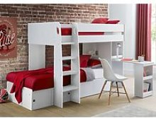 Eclipse Wooden Bunk Bed In White