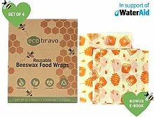 Eco Bravo Beeswax Food Wraps Reusable |