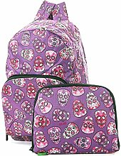 ECO CHIC Foldaway Back Pack/School Bag/Shopping