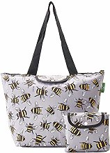 Eco Chic Lightweight Foldable Large Cool Bag Bees
