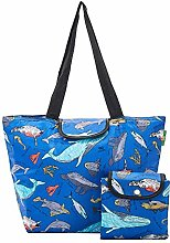 Eco Chic Lightweight Foldable Large Cool Bag Sea