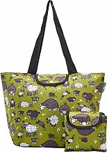 Eco Chic Lightweight Foldable Large Cool Bag Sheep