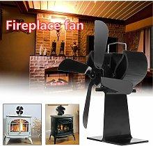 Eco Friendly 4 Blade Fireplace Fan 203CFM Winter