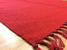 Eco friendly Plain Red Handmade Recycled Cotton