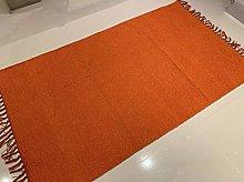 Eco friendly Plain Rust Terracotta Orange Handmade