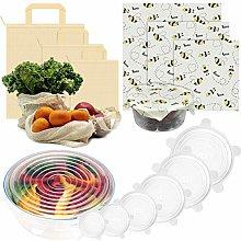 Eco-Friendly Reusable Food Storage and Wraps Set