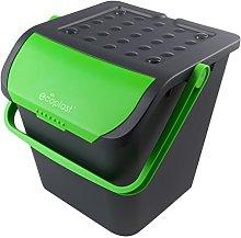 Eco Plast Ecologic Dustbin, 28 L, Green, One Size
