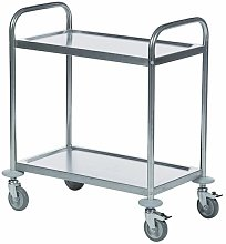 Economy Stainless 2-Shelf Trolley 375608 - SBY21215