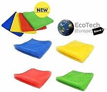 EcoTech {500 Wash} Microfibre Cleaning Cloths,4