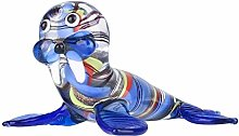 ECSWP MDWJKSP Colorful Walrus Sculpture Handmade
