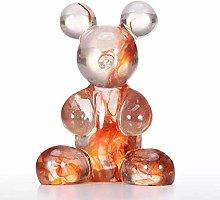 ECSWP MDWJKSP Transparent Resin Cute Bear Desk