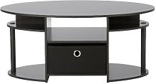 Eda Simple Coffee Table with Storage Zipcode Design