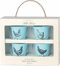 Eddington Vintage Set of 4 Egg Cup Buckets - Hen
