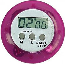 Eddingtons Digital Kitchen Timer, Purple, Round