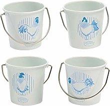 Eddingtons Set of 4 Breakfast Club Blue Egg Cups