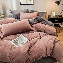 eddy fleece bedding pink-Winter plus velvet