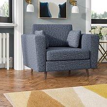 Eden Armchair Hykkon Upholstery Colour: Blue
