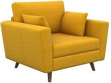 Eden Armchair Hykkon Upholstery Colour: Mustard