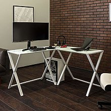 Eden Bridge Designs Computer Desk, White, 51 Inch
