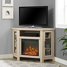 Eden Bridge Designs Corner Fireplace TV Stand, 122