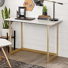 Eden Bridge Designs Desk, White Marble, One Size