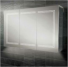 Edge 120 Aluminium LED Triple Door Bathroom
