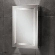 Edge 50 Aluminium LED Single Door Bathroom Cabinet
