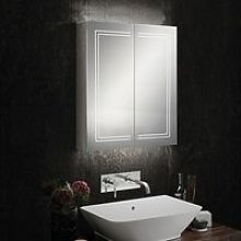 Edge 60 Aluminium LED Double Door Bathroom Cabinet