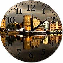 Edinburgh Scotland Wall Clock Silent Non Ticking
