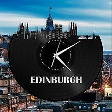 Edinburgh Vinyl Wall Clock Cityscape Unique Vinyl