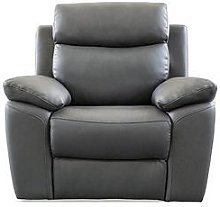 Edison Luxury Faux Leather Manual Recliner Armchair