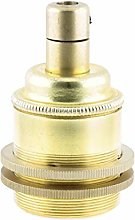 Edison Screw (E27) Solid Brass Earthed Lampholder