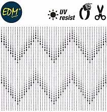 EDM 75963 Pearl Curtain Blue Plastic with 48