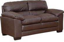 Edmund Leather 2 Seater Sofa, Brown