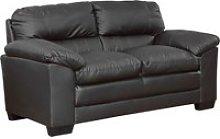 Edmund Leather 2 Seater Sofa, Grey