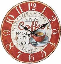 Edna Vintage 34cm Wall Clock Borough Wharf