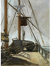 Edouard Manet The Ships Deck Large Wall Art Print